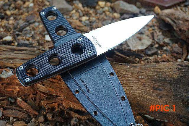 Grady Fung Clone Version Cold Steel SECRET EDGE EDC Fixed Blade Knives G10 handle Secure-E