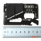 10PCS,14 in 1 Credit Card Wallet SOS Survival Knife Stainless Steel Multi Functional Outdo