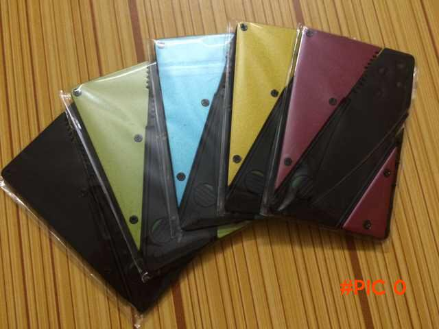 5 pcs/lot 3rd version credit card knife tools colorful Wallet Folding Safety Mini Pocket K