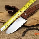 100% New LionSteel M3 ST Hunting Knife Santos Wood Handle 7Cr17Mov Blade Camping Tactical