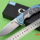 C H 3504 advanced full titanium handle S35VN ball bearing flip knife (full manual version