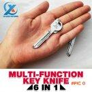 Portable 6 in 1 Multifunctional Mini Hand Tool Screwdriver Repair Tool Kit Keychain Opener