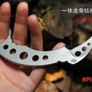 Free shipping High-quality Not sharp karambit trainer knife Security tools Straight One st