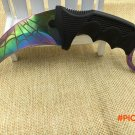 CS GO Counter Strike claw Karambit Knife Neck Knife with Sheath Tiger Tooth Real game Knif