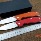 Newest folding knife TBG 95 D2 blade tactical outdoor camping knife G10 handle pocket knif