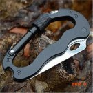 Hot Sale 5 In 1 Multifunctional Folding Knife Multi Carabiner Hanging Buckle Tool for Camp