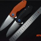 OEM ZT0456 Flipper folding knife bearing D2 blade G10 handle outdoor Survival camping hun