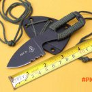 Rescue Neck Knife 7Cr13 Blade Steel Handle Small Survival Knife Tactical Fixed Knife Outdo