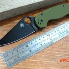 New sale Efeng Spider Para Military 2 Folding Blade Knife 9CR13MOV Blade Green G10 Handle