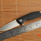 Dicoria Mini F3 with logo Flipper folding knife bearing 30EVO G10 Steel handle outdoor cam