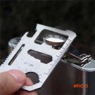 Multi-Purpose 11-in-1 Stainless Steel Survival Tool Emergency Card Pocket  SS BC2009