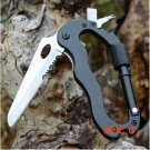 Multifunctional camping Gear climbing carabiner with knife 6 in1 Hiking outdoor Survival m