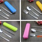 Portable Knife Spoon Fork Cutlery Set Outdoor Camping Travel Tableware BC2034