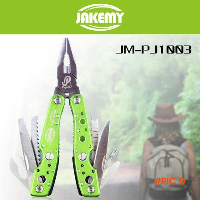 Jakemy 9 in 1 Multifunctional Folding Tool Water Resistant Maintenance Tools Serrated Knif