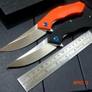 2 Colours Good Looking Tactical Folding Knife D2 Blade G10 Handle Blue Moon Outdoor Campin