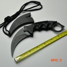 Black Hunting Fixed Knife With 5Cr13Mov Blade Aluminum Handle Pocket Camping Survival Stra