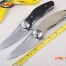 Flipper folding knife D2 Blade Stone Warsh G10 handle outdoor survival hunting camping kni