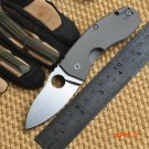 Ben Newest C158 ball bearing folding knife D2 blade TC4 Titanium handle camping hunting ou