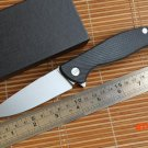 Green thorn F95 CF 95 Hati ball bearing folding knife D2 blade carbon fiber Titanium hunti