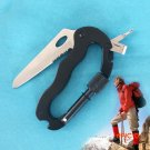 High Quality 5 In 1 Outdoor Survival Steel Camping Climbing Multifunctional Knife Screwdri