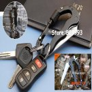 Outdoor Sports Stainless steel carabiner Multifunction Camping Hiking Tools Knife lockable