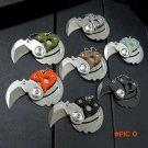 Newest Coin folding knife 9Cr18MoV blade G10 or carbon fiber + steel handle outdoor Surviv