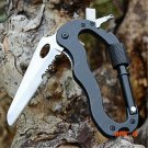 Multifunction Carabiner Knife Screwdriver Saw Keychain Outdoor Emergency Survival Tool Tac