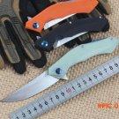 Newest Kesiwo folding knife Flipper BLUE-MOON ball bearing D2 knife blade G10 handle pocke