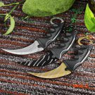 CS GO Karambit Knife Never Fade Counter Strike Karambit tactical handmade Fighting Claw hu
