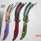 CS GO game collection butterfly flail bali balisong trainer knife train practice fold kara