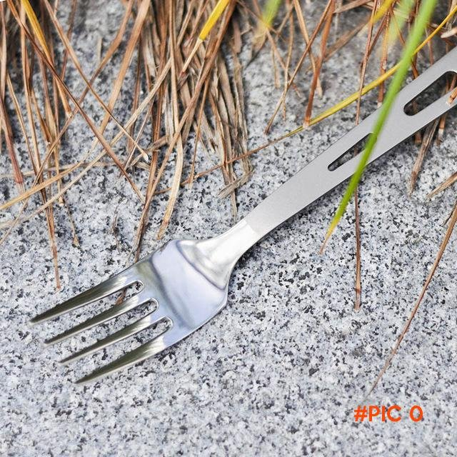 Ti-time Outdoor Camping Titanium Cooking Fork tableware picnic lightweight stainless outdo