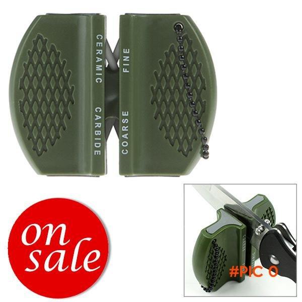 2pcs/lot FREE SHIPPING mini camping pocket outdoor ceramic tungsten steel knife blade shar