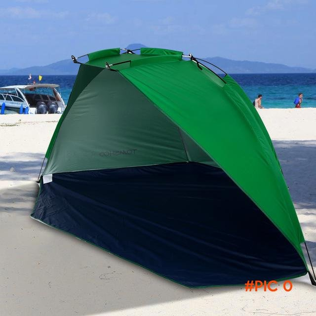 Quick Opening Tent Beach Awning Sun Shelter Half-Open Waterproof Tent Shade Ultralight for