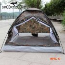 Portable Camping Tent for 2 Person Single Layer Outdoor Tents Camouflage for Camping Hiking BC8