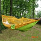 Single Person Portable Outdoor Camping Parachute Fabric Mosquito Net Hammock for Indoor Ou