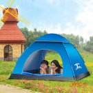 Outdoor Tents 5 Colors 3/4 Person Oxford cloth Rainproof Ourdoor Camping Tent for Hiking F