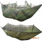 Portable Travel Jungle Camping Outdoor Hammock Hanging Nylon Bed + Mosquito Net 300kg Maxi