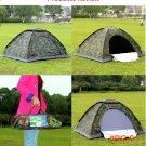 Outdoor Portable Single Layer Camping Tent Camouflage Tent  for 2 Person Waterproof PU1000