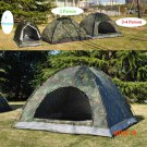 200*200*135cm Large Capacity Camouflage Field Game Tent 3-4 Person Waterproof Camping Hunt