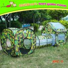 3 in 1 Children Outdoor Camping Tunnel Tent House Educational Camouflage Waterproof Baby T