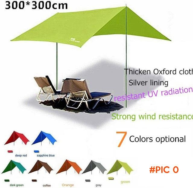 Brand FlyTop family Portable beach sun awning waterproof shade outdoor camping folding sha