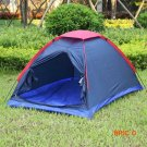 Two Person Outdoor Camping Tent Kit Fiberglass Pole Water Resistance with Carry Bag for Hi