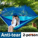 Brand YUETOR ultralight foldable hammock parachute with mosquito net out camping hiking 2