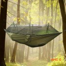 Portable Indoor Outdoor Hammock for Backpacking Camping Hanging Bed With Mosquito Net Slee