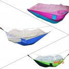 Double Hammock with Mosquito Net Camping Survival Parachute Cloth Hammock 260*130cm Stitch