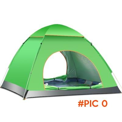 Free shipping 2s Quick open tent outdoor 3-4 people automatic camping tent set Waterproof