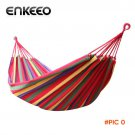 Enkeeo Cotton 2 Person Parachute Hammock For Travel Kits Hiking Portable Backpacking Campi