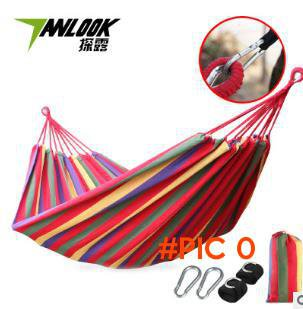 camping hammock swing outdoor thickening canvas  single double bearing pad with bag thick