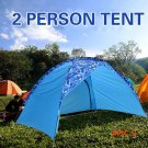Beach Tent 2 Person Canopy Shade Shelter Ultralight For Camping Napping Blue BC515