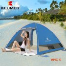 GJ 3-4persons automatic speed quick open sunshelter silver coated beach outdoor camping te